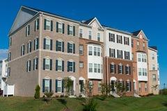 Condomínios suburbanos Foto de Stock Royalty Free