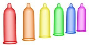 Condom 2 d'arc-en-ciel Photo stock
