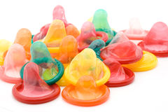 Condom. Studio isolated - safe sex concept Royalty Free Stock Images