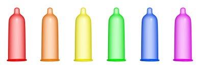 Condom d'arc-en-ciel illustration libre de droits