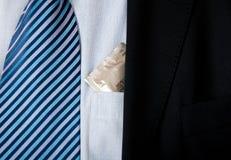 Condom dans une poche Photo stock