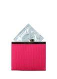 Condom dans une pochette rose Photo libre de droits