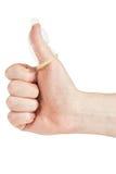 Condom on the finger Stock Photo