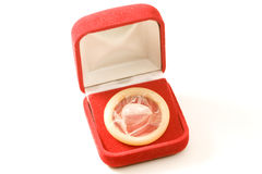 Condom gift Stock Image