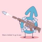 Condom with gun vector illustration