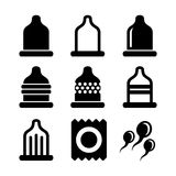 Condom Icons Set. Vector Royalty Free Stock Images