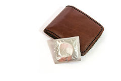 Condom pocket Stock Image