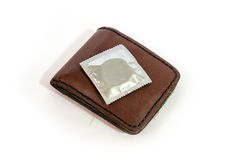 Condom pocket Stock Photography