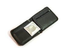Condom pocket Stock Photography