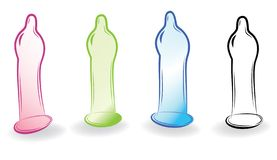 Condom sketch Royalty Free Stock Images