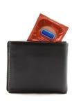 Condom in wallet Royalty Free Stock Photos