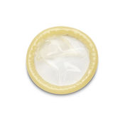 Condom on white background Royalty Free Stock Photography