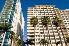 Condomini di Miami Fotografia Stock