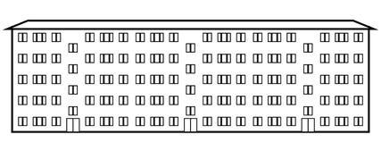 condominio ilustración del vector