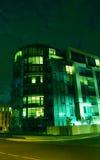 Condominio alla notte Fotografia Stock
