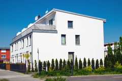 Condominio bianco moderno a Berlino Fotografia Stock Libera da Diritti