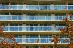 Condominio con los balcones Imagen de archivo libre de regalías