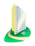 Condominio de la casa ideal en la ilustración de la colina ilustración del vector