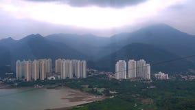 Condominio de la isla de Lantau, Hong Kong almacen de metraje de vídeo