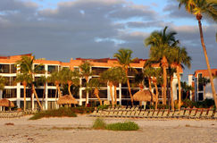 Condominio de la playa, isla de Sanibel, la Florida Imagen de archivo