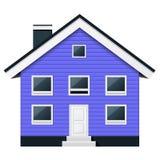 Condominio escandinavo - casa urbana suburbana ilustración del vector