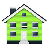 Condominio escandinavo verde - casa urbana suburbana ilustración del vector