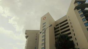 Condominio moderno filtrado retro constructivo plano arquitectónico del art déco de la playa del estilo de Miami de la imagen del almacen de video