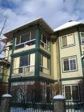 Condominio moderno. portico fotografia stock