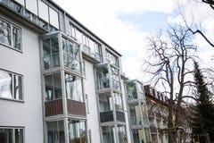 Condominio a Monaco di Baviera, affittato, vivente, idillio Fotografia Stock Libera da Diritti