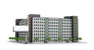 Condominio o edificio residencial moderno stock de ilustración