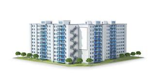 Condominio o edificio residencial moderno Desarrollo inmobiliario y el concepto de crecimiento urbano stock de ilustración