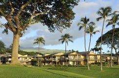Condominios en un paisaje tropical Fotografía de archivo libre de regalías