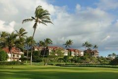 Condominios en un paisaje tropical imagen de archivo