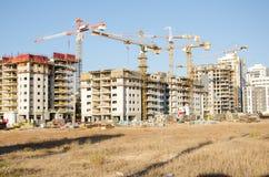 Condominios residenciales grandes bajo construcción Fotos de archivo libres de regalías