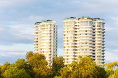 Condominium or apartment with blue sky for background Royalty Free Stock Image