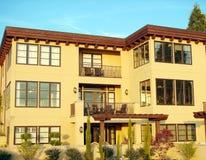 Condominium/Apartment Complex. A modern looking condo complex Stock Photo