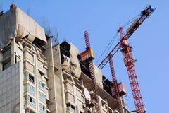 Condominium apartment construction site in bright Royalty Free Stock Images