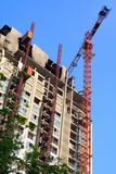 Condominium apartment construction site in bright Stock Photography