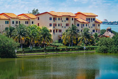 Condominium. Apartments overlooking the lake. Stock Image