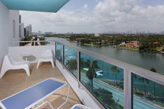 Condominium balciny with a view Stock Photo