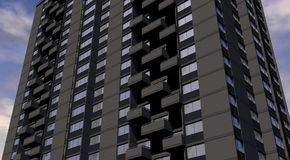 Condominium with Balconies Royalty Free Stock Photos