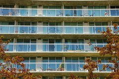 Condominium with balconies Royalty Free Stock Image
