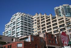 Condominium Building in Seattle Washington. Modern condominium/apartment building in downtown Seattle, Washington Stock Photo