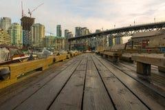 Condominium Buildings along Granville Island Vancouver BC Stock Photography