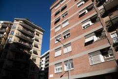 Condominium buildings. Modern residential buildings in Rome Stock Photos