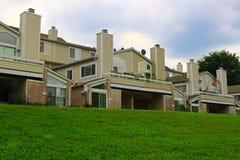 Condominium. With car garage and balcony stock photo