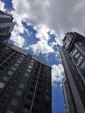 Condominium in cloudy days. Very nice days to see most cloudy and blue sky in Royalty Free Stock Image
