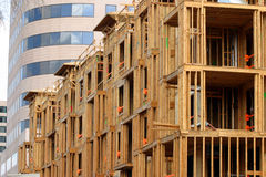Condominium construction Royalty Free Stock Images