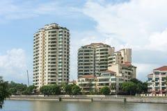 Condominium et balconys photographie stock libre de droits