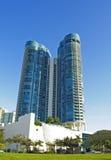 Condominium at Las Olas, Ft. Lauderdale. Shot on a deep blue sky Royalty Free Stock Photography